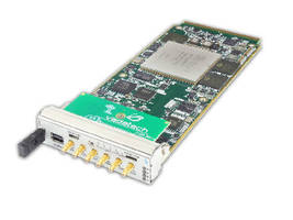 AMC Board combines dual DACs and FPGA.