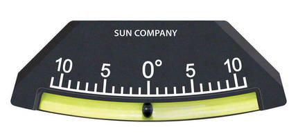High-Visibility Inclinometer improves operator safety.