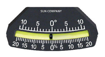 Inclinometer helps maximize operator safety.