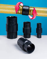 Swivel Connectors fit 2-6 in. diameter flexible hose.