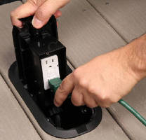Floor Box eliminates hazard of outdoor outlets.