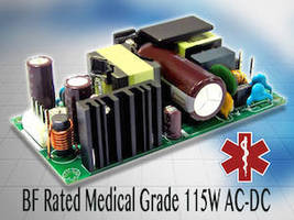 AC/DC 150 W Power Supplies serve BF rated medical applications.