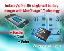 Li-Ion Battery Charger IC can achieve 80% capacity in 30 min.
