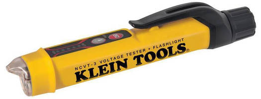 Non-Contact Voltage Tester features independent flashlight.
