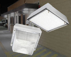 LED Canopy Luminaires offer flat or prismatic drop lens.