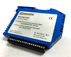 Discrete I/O Module monitors high level AC and DC voltages.