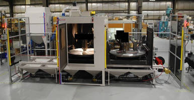 Twin Table Robotic Grit-Blast System minimizes downtime.