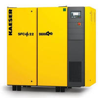 Rotary Screw Compressor has variable speed, direct drive design.
