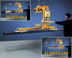 Below-the-Hook Upender Vacuum Lifter offers 180 degree flip.