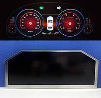 Automotive Cluster Display features corner-cut design.