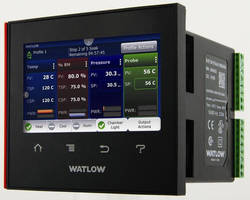 Temperature Process Controller leverages touchscreen technology.