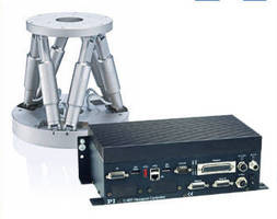 Hexapod Controller supports 6 axes and 2 servo motor channels.