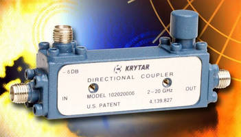 Broadband Directional Coupler covers 2.0-20.0 GHz range.