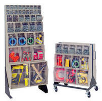 Floor Stands store and facilitate access to small parts.