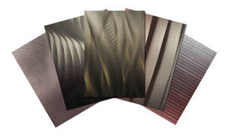 Decorative Metal Surfacing come in varied colors, textural grains.