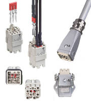 Industrial Power Connectors feature 16 A/600 V ratings.