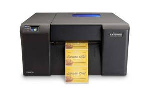 Color Label Printer produces labels at 6 ips.