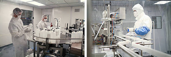 Cleanroom Sevices include aseptic manufacturing and repackaging.