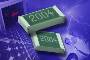 Thin Film Flat Chip Resistors operate up to 1,000 V.