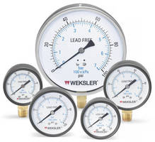 Water Pressure Gauges keep lead out of drinking water.
