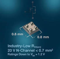 N-Channel MOSFET saves space in mobile devices.