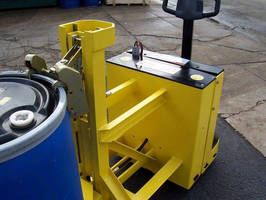 Powered Drum Handler enables safe loading, lifting, manipulation.