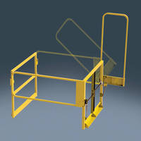 Safety Gate provides fall protection for workers on mezzanines.