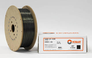 Flux-Cored Wire provides low-temperature impact toughness.