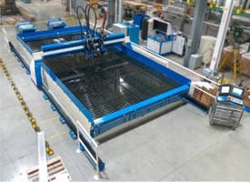 Materials Cutting Service utilizes 5-axis waterjet machine.