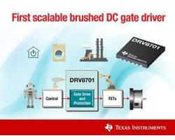 Brushed DC Gate Driver provides adjustable current drive.