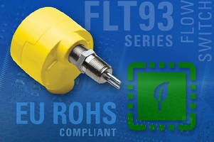 Flow/Level/Temperature Switches comply with RoHS Directive.