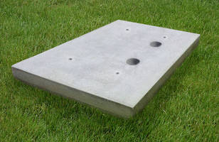 Equipment Pads are constructed of lightweight cellular concrete.