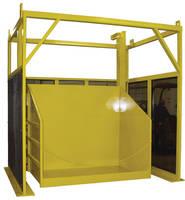 Bin Dumper moves loads vertically in excess of 30 ft.