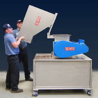 Crusher provides low-friction cutting action.