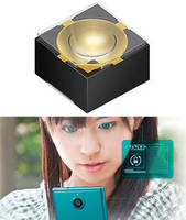 Infrared LED enables iris scanning to unlock smartphones.