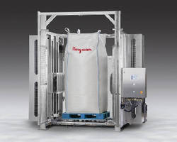 Bulk Bag Conditioner features height-adjustable rams.