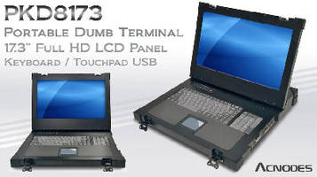 Portable Dumb Terminal features 17.3 in. full HD LCD panel.