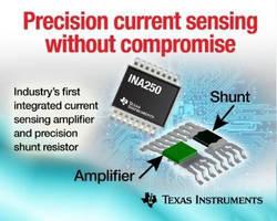 Current-Sense Amplifier integrates low-drift shunt resistor.