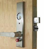 Single-Press Classroom Deadbolt avoids door barricade dangers.