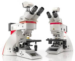 Upright Microscopes are used for materials science and analysis.