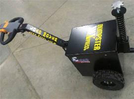 Ergonomic Electric-Powered Tug moves dumpsters.