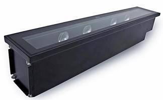 Architectural Inground LED Luminaire illuminates facades.