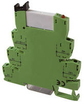 Terminal Block Industrial Control Relays are DIN rail mounted.