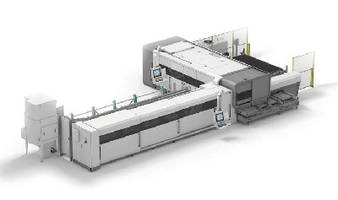 Laser Cutting System switches from sheet to tube processing.