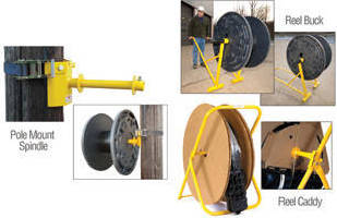 Reel Handling Accessories help make cable deployment safe.