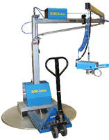 Vacuum-Operated Lift handles boxes and bags up to 185 lb.