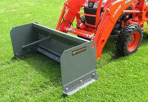 Snow Pusher Tractor Attachments can be matched to job at hand.