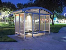 Solar Power Systems provide bus stop and shelter lighting.