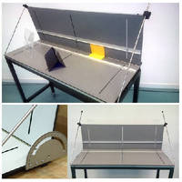 Adjustable Bending Fixture holds products at set angle.