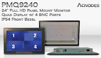 Panel Mount LCD Monitor supports quad display.